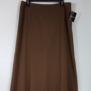 SAG HARBOR EASY FIT BROWN SKIRT Size 16 NEW PM31